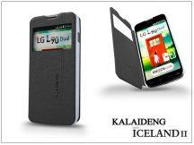 LG L90 D405 flipes tok - Kalaideng Iceland 2 Series View Cover - black