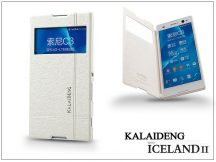Sony Xperia C3 (D2533) flipes tok - Kalaideng Iceland 2 Series View Cover - white