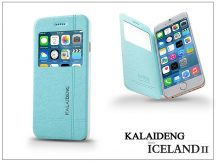 Apple iPhone 6 flipes tok - Kalaideng Iceland 2 Series View Cover - turquoise blue