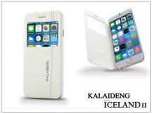 Apple iPhone 6 flipes tok - Kalaideng Iceland 2 Series View Cover - white