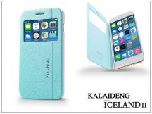 Apple iPhone 6 Plus flipes tok - Kalaideng Iceland 2 Series View Cover - turquoise blue