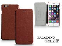 Apple iPhone 6 Plus flipes tok - Kalaideng Enland Series - brown