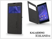 Sony Xperia T3 (D5103) flipes tok - Kalaideng Iceland 2 Series View Cover - black