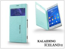 Sony Xperia Z3 (D6603) flipes tok - Kalaideng Iceland 2 Series View Cover - turquoise blue