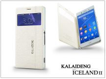 Sony Xperia Z3 (D6603) flipes tok - Kalaideng Iceland 2 Series View Cover - white