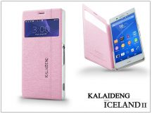 Sony Xperia Z3 (D6603) flipes tok - Kalaideng Iceland 2 Series View Cover - pink