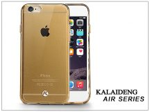 Apple iPhone 6 Plus szilikon hátlap üveg képernyővédó fóliával - Kalaideng Air Series - gold