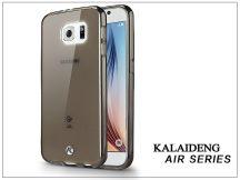 Samsung SM-G920 Galaxy S6 szilikon hátlap üveg képernyővédó fóliával - Kalaideng Air Series - black