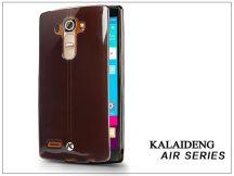 LG G4 H815 szilikon hátlap üveg képernyővédó fóliával - Kalaideng Air Series - black