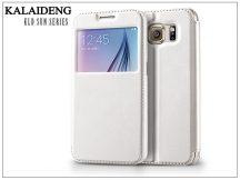 Samsung SM-G920 Galaxy S6 flipes tok - Kalaideng Sun Series View Cover - white
