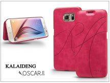 Samsung SM-G920 Galaxy S6 flipes tok - Kalaideng Oscar 2 Series - pink
