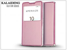 Sony Xperia Z5 (E6653) flipes tok - Kalaideng Sun Series View Cover - pink