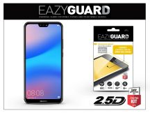 Huawei P20 Lite gyémántüveg képernyővédő fólia - Diamond Glass 2.5D Fullcover - fekete