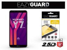 Huawei Y7 (2018) gyémántüveg képernyővédő fólia - Diamond Glass 2.5D Fullcover - fekete