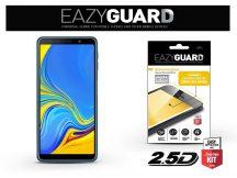 Samsung A750F Galaxy A7 (2018) gyémántüveg képernyővédő fólia - Diamond Glass 2.5D Fullcover - fekete