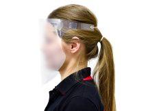 Higiéniai arcvédő plexi pajzs homlokpánttal - FFS Garden Lite Protector - átlátszó