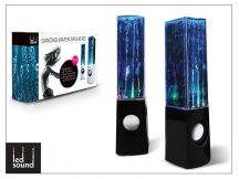 Univerzális hangszóró 3,5 mm jack csatlakozóval és vezetékkel - LED Sound Dancing Water - fekete