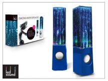 Univerzális hangszóró 3,5 mm jack csatlakozóval és vezetékkel - LED Sound Dancing Water - kék