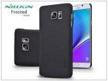 Samsung SM-N920 Galaxy Note 5 hátlap képernyővédő fóliával - Nillkin Frosted Shield - fekete