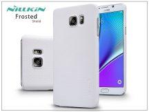 Samsung SM-N920 Galaxy Note 5 hátlap képernyővédő fóliával - Nillkin Frosted Shield - fehér