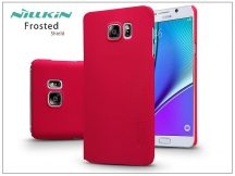 Samsung SM-N920 Galaxy Note 5 hátlap képernyővédő fóliával - Nillkin Frosted Shield - piros
