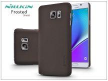 Samsung SM-N920 Galaxy Note 5 hátlap képernyővédő fóliával - Nillkin Frosted Shield - barna