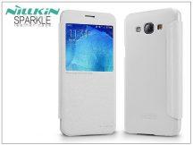 Samsung SM-A800 Galaxy A8 oldalra nyíló flipes tok - Nillkin Sparkle - fehér