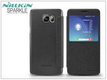 Samsung SM-N920 Galaxy Note 5 oldalra nyíló flipes tok - Nillkin Sparkle - fekete