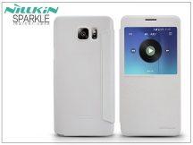 Samsung SM-N920 Galaxy Note 5 oldalra nyíló flipes tok - Nillkin Sparkle - fehér
