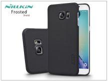 Samsung SM-G928 Galaxy S6 Edge+ hátlap képernyővédő fóliával - Nillkin Frosted Shield - fekete