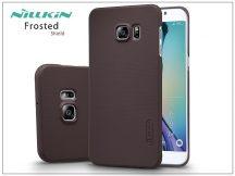 Samsung SM-G928 Galaxy S6 Edge+ hátlap képernyővédő fóliával - Nillkin Frosted Shield - barna