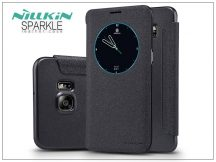 Samsung SM-G928 Galaxy S6 Edge+ oldalra nyíló flipes tok - Nillkin Sparkle - fekete