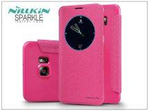 Samsung SM-G928 Galaxy S6 Edge+ oldalra nyíló flipes tok - Nillkin Sparkle - pink