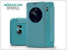 Samsung SM-G928 Galaxy S6 Edge+ oldalra nyíló flipes tok - Nillkin Sparkle - kék