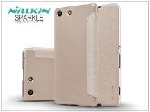 Sony Xperia M5 (E5603/E5606/E5653) oldalra nyíló flipes tok - Nillkin Sparkle - golden