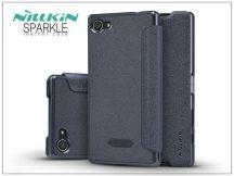 Sony Xperia Z5 Compact (E5803) oldalra nyíló flipes tok - Nillkin Sparkle - fekete