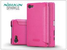 Sony Xperia Z5 Compact (E5803) oldalra nyíló flipes tok - Nillkin Sparkle - pink