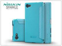 Sony Xperia Z5 Compact (E5803) oldalra nyíló flipes tok - Nillkin Sparkle - kék