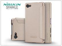 Sony Xperia Z5 Compact (E5803) oldalra nyíló flipes tok - Nillkin Sparkle - golden