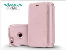 Apple iPhone 6 Plus/6S Plus oldalra nyíló flipes tok - Nillkin Sparkle - rose gold