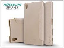 Sony Xperia Z5 Premium (E6853) oldalra nyíló flipes tok - Nillkin Sparkle - golden