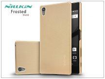 Sony Xperia Z5 Premium (E6853) hátlap képernyővédő fóliával - Nillkin Frosted Shield - golden