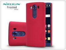 LG V10 H960A hátlap képernyővédő fóliával - Nillkin Frosted Shield - piros