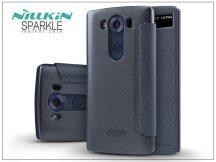 LG V10 H960A oldalra nyíló flipes tok - Nillkin Sparkle - fekete