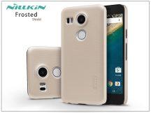 LG Nexus 5X hátlap képernyővédő fóliával - Nillkin Frosted Shield - gold