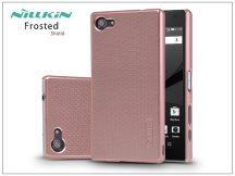 Sony Xperia Z5 Compact (E5803) hátlap képernyővédő fóliával - Nillkin Frosted Shield - rose gold