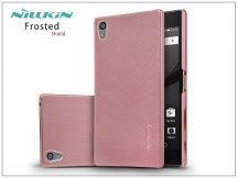 Sony Xperia Z5 Premium (E6853) hátlap képernyővédő fóliával - Nillkin Frosted Shield - rose gold