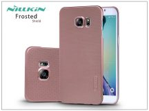 Samsung SM-G928 Galaxy S6 Edge+ hátlap képernyővédő fóliával - Nillkin Frosted Shield - rose gold