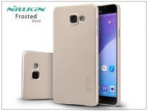Samsung A710F Galaxy A7 (2016) hátlap képernyővédő fóliával - Nillkin Frosted Shield - golden