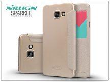 Samsung A710F Galaxy A7 (2016) oldalra nyíló flipes tok - Nillkin Sparkle - golden